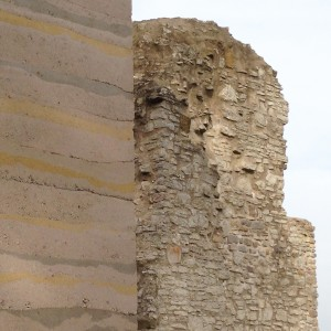 Stampfbeton und Mauerwerk